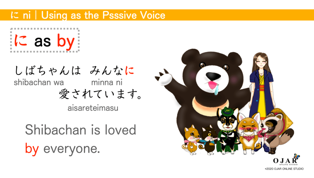 Using as the passive voice