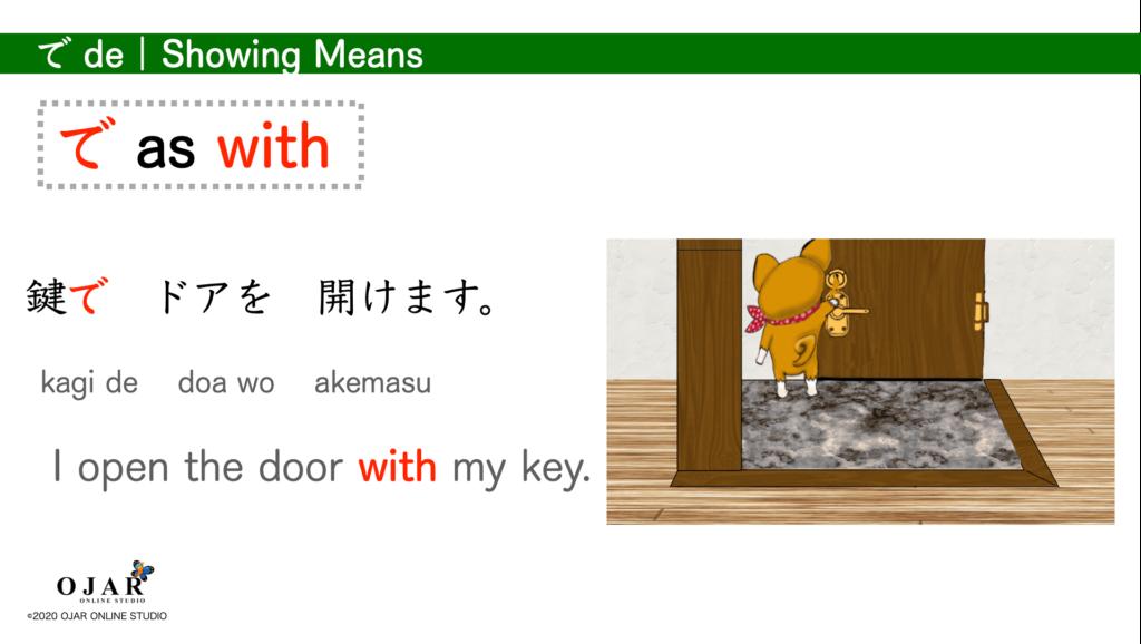 showing means particle de