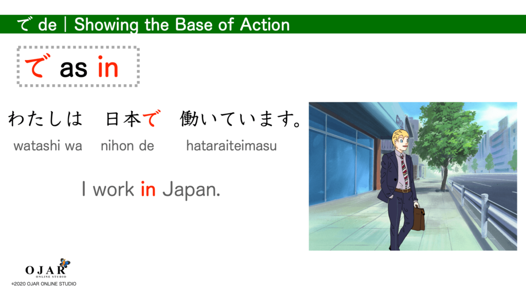 showing the base of action in particle de