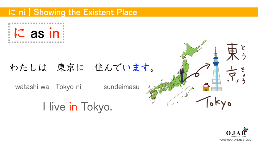 showing the existent place in tokyo