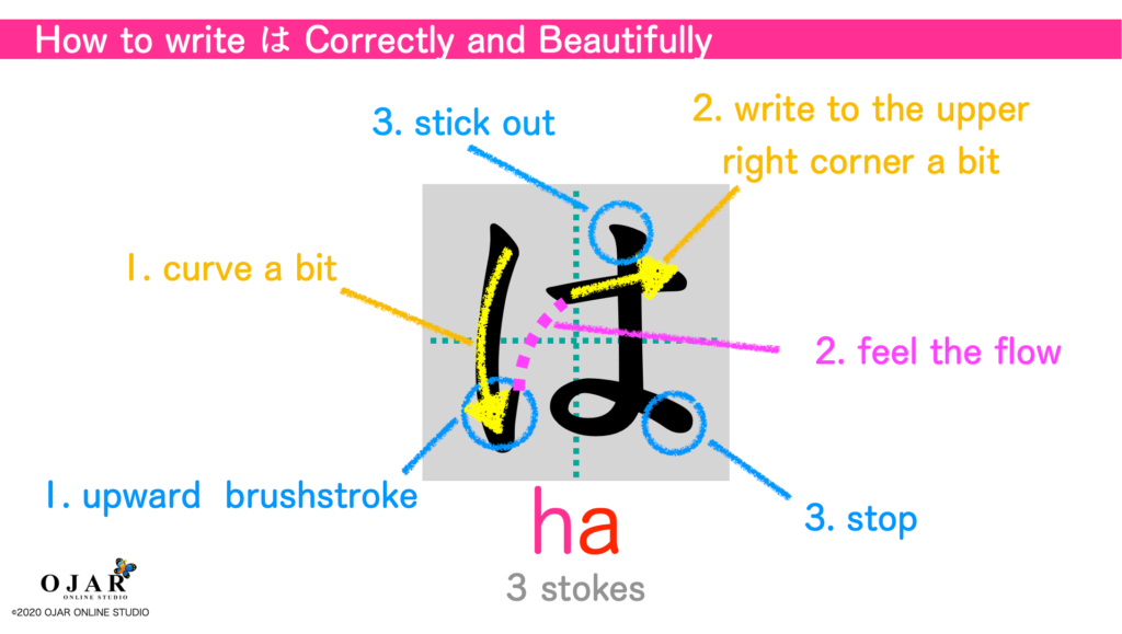 how to write ha correctly and beautifully