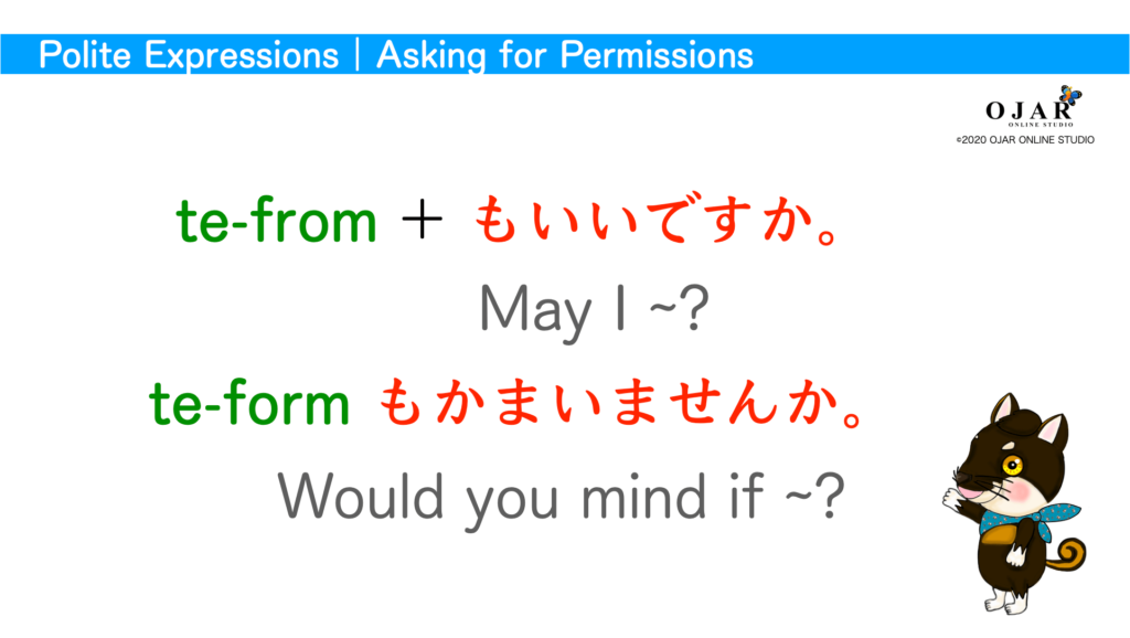 polite expressions asking for permissions