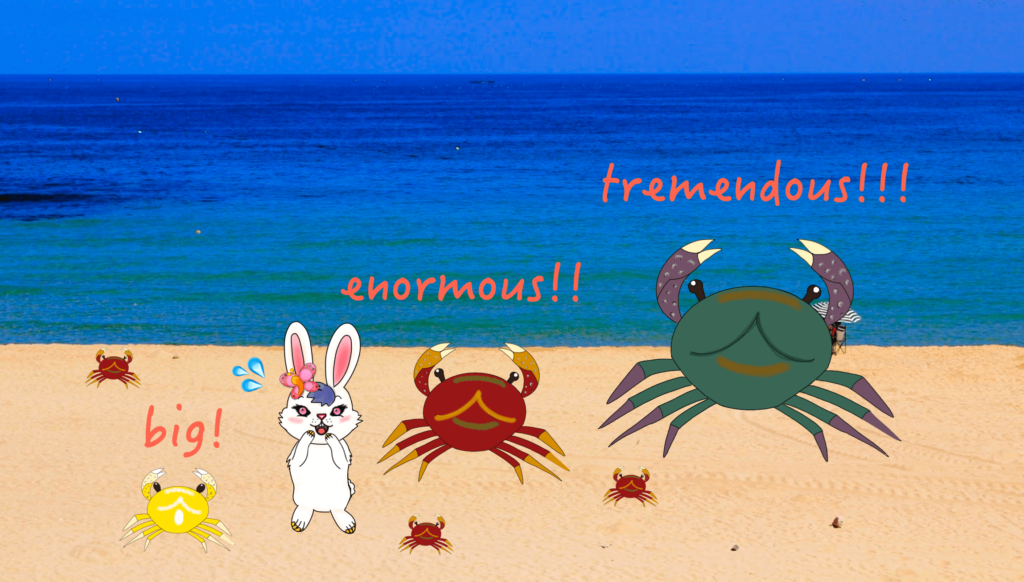 the enormous crab 大きい