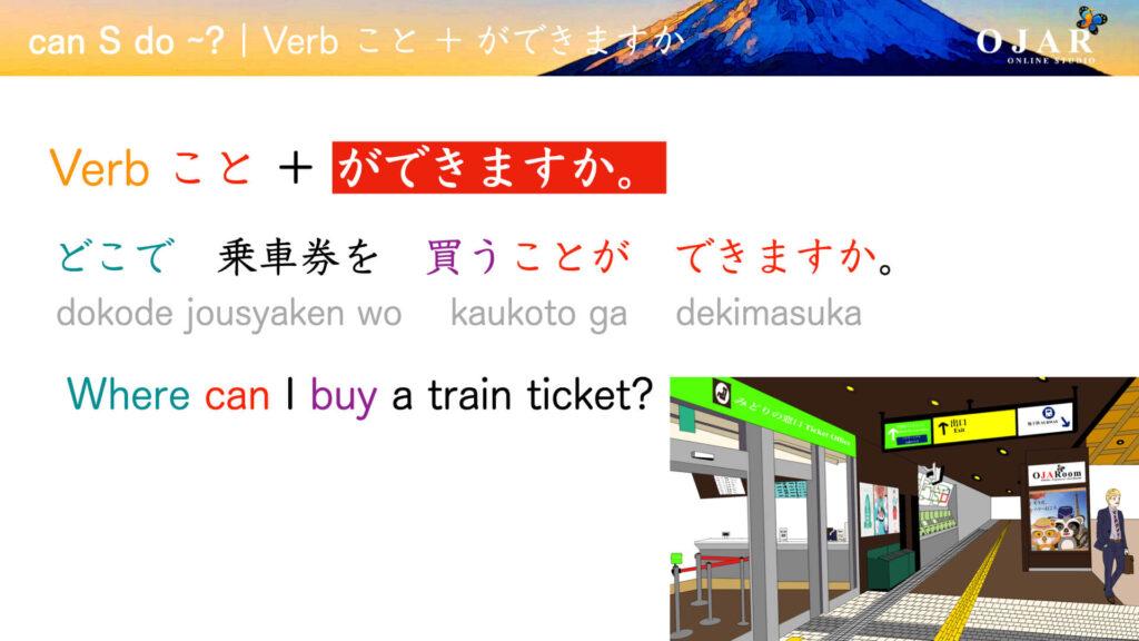 Japanese can S do verb koto ga dekimasu ka